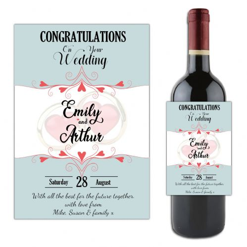 Personalised Wedding Congratulations Wine / Champagne Bottle Label N125